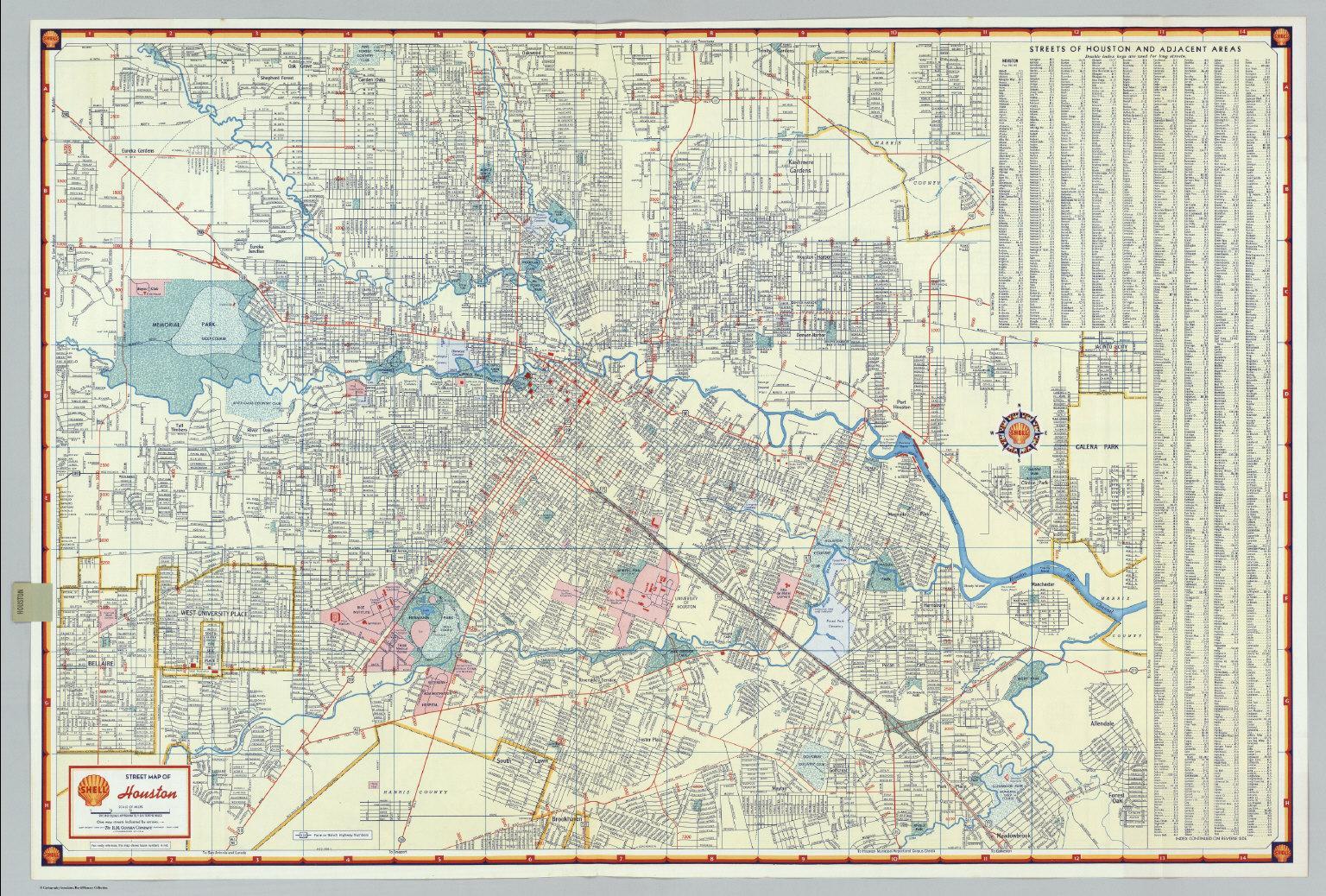 Houston ulina mapa Ulina mapa Houston Texas SAD